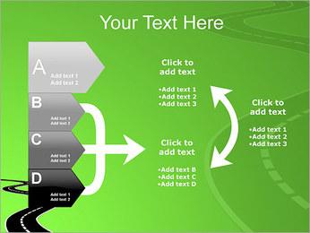 Route sur fond vert Modèles des présentations  PowerPoint - Diapositives 16