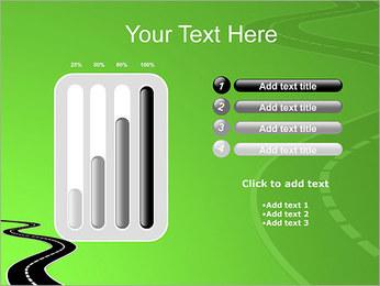Route sur fond vert Modèles des présentations  PowerPoint - Diapositives 18