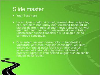 Route sur fond vert Modèles des présentations  PowerPoint - Diapositives 2