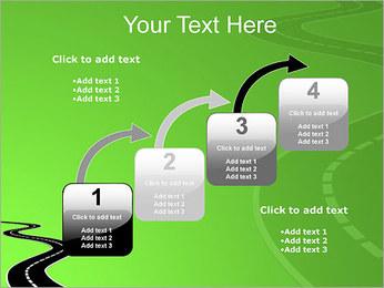 Route sur fond vert Modèles des présentations  PowerPoint - Diapositives 20