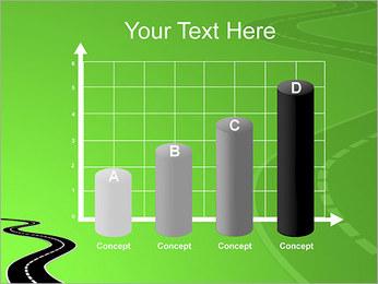 Route sur fond vert Modèles des présentations  PowerPoint - Diapositives 21