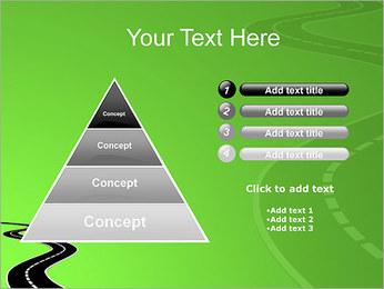 Route sur fond vert Modèles des présentations  PowerPoint - Diapositives 22