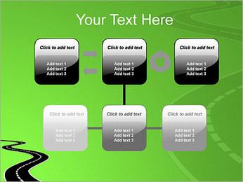 Route sur fond vert Modèles des présentations  PowerPoint - Diapositives 23