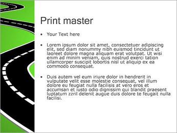 Route sur fond vert Modèles des présentations  PowerPoint - Diapositives 24