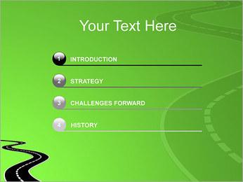 Route sur fond vert Modèles des présentations  PowerPoint - Diapositives 3