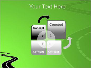 Route sur fond vert Modèles des présentations  PowerPoint - Diapositives 5