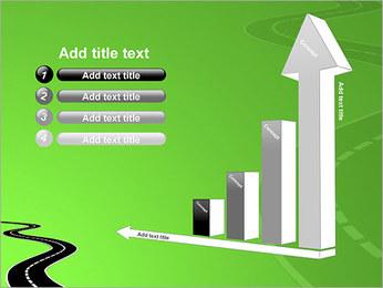 Route sur fond vert Modèles des présentations  PowerPoint - Diapositives 6