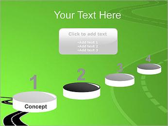 Route sur fond vert Modèles des présentations  PowerPoint - Diapositives 7