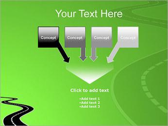 Route sur fond vert Modèles des présentations  PowerPoint - Diapositives 8