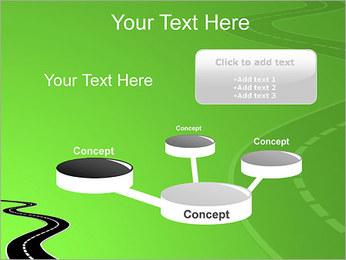 Route sur fond vert Modèles des présentations  PowerPoint - Diapositives 9