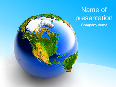 earth is our home powerpoint template & backgrounds id 0000002848, Modern powerpoint