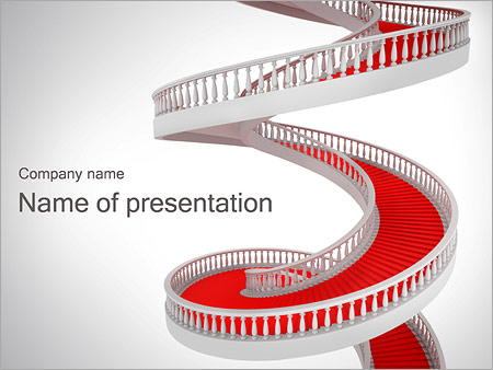 Red and white spiral stairs powerpoint template backgrounds id red and white spiral stairs powerpoint template toneelgroepblik Image collections