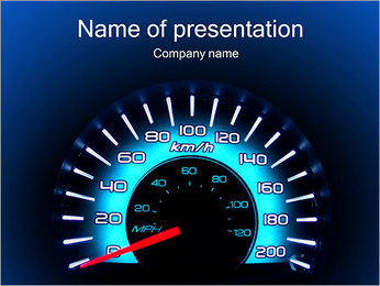 Auto Speedometer PowerPoint Template