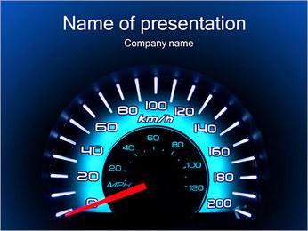 Compteur de vitesse automatique Modèles des présentations  PowerPoint - Diapositives 1