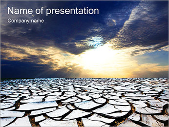 Dry Ground PowerPoint Template