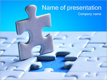 Light Blue Puzzle PowerPoint Template