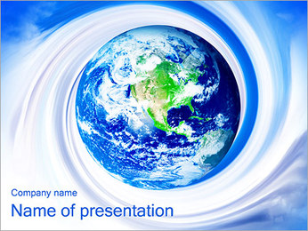 Abstract Earth PowerPoint Template