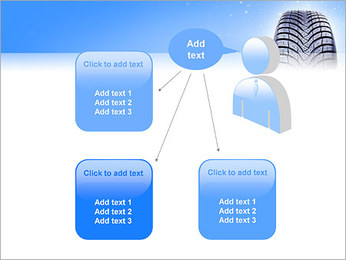 Hiver de pneu de voiture Modèles des présentations  PowerPoint - Diapositives 12