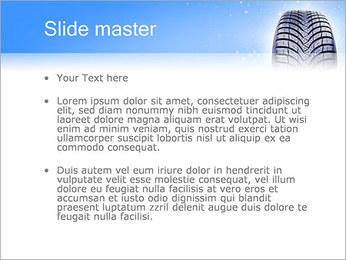 Hiver de pneu de voiture Modèles des présentations  PowerPoint - Diapositives 2