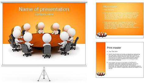 Ilustración De Conferencia Plantillas de Presentaciones PowerPoint