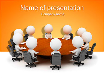 Illustration Of Conference PowerPoint Template