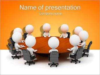 Ilustración De Conferencia Plantillas de Presentaciones PowerPoint - Diapositiva 1