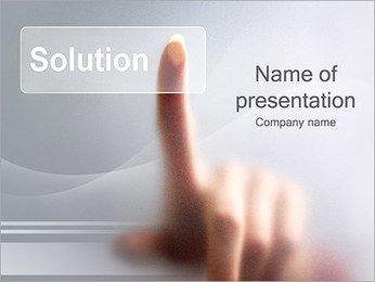 Finding Solution PowerPoint Template