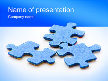 Three Puzzle Elements PowerPoint Template