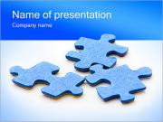 Three Puzzle Elements PowerPoint Templates