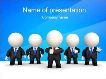 Abstract Office Workers PowerPoint Template