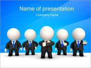 Abstract Office Workers PowerPoint Templates
