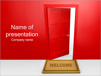 Welcome Door Sign PowerPoint Template