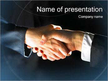 Estrechar las manos Plantillas de Presentaciones PowerPoint