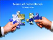 Two Hands Connect Puzzle PowerPoint Templates