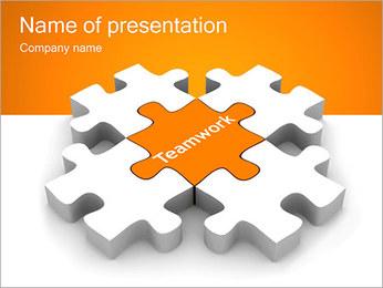 Rompecabezas con el trabajo en equipo Ingresar Plantillas de Presentaciones PowerPoint