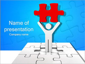 Successfully Made Puzzle PowerPoint Template