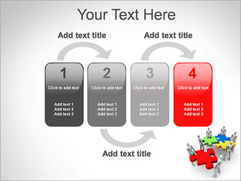 Personas Abstractas Con Puzzle Plantillas de Presentaciones PowerPoint - Diapositiva 11