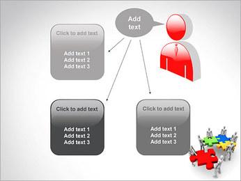 Personas Abstractas Con Puzzle Plantillas de Presentaciones PowerPoint - Diapositiva 12