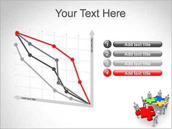 Personas Abstractas Con Puzzle Plantillas de Presentaciones PowerPoint - Diapositiva 13