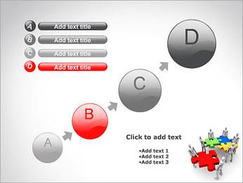 Personas Abstractas Con Puzzle Plantillas de Presentaciones PowerPoint - Diapositiva 15
