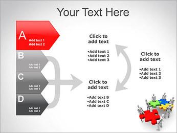 Personas Abstractas Con Puzzle Plantillas de Presentaciones PowerPoint - Diapositiva 16