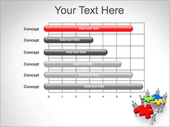 Personas Abstractas Con Puzzle Plantillas de Presentaciones PowerPoint - Diapositiva 17