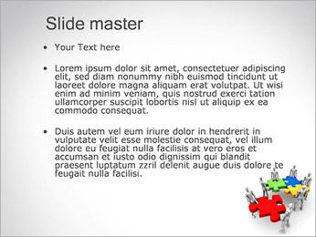 Personas Abstractas Con Puzzle Plantillas de Presentaciones PowerPoint - Diapositiva 2