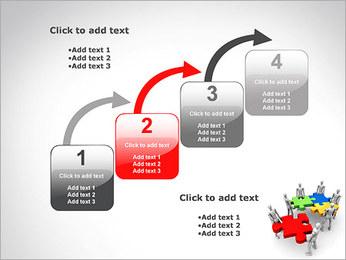 Personas Abstractas Con Puzzle Plantillas de Presentaciones PowerPoint - Diapositiva 20