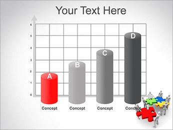 Personas Abstractas Con Puzzle Plantillas de Presentaciones PowerPoint - Diapositiva 21