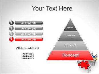 Personas Abstractas Con Puzzle Plantillas de Presentaciones PowerPoint - Diapositiva 22