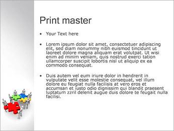 Personas Abstractas Con Puzzle Plantillas de Presentaciones PowerPoint - Diapositiva 24