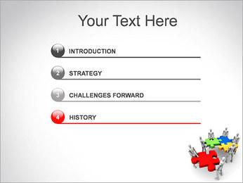 Personas Abstractas Con Puzzle Plantillas de Presentaciones PowerPoint - Diapositiva 3