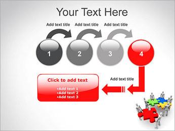 Personas Abstractas Con Puzzle Plantillas de Presentaciones PowerPoint - Diapositiva 4