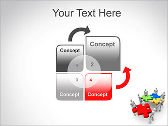 Personas Abstractas Con Puzzle Plantillas de Presentaciones PowerPoint - Diapositiva 5